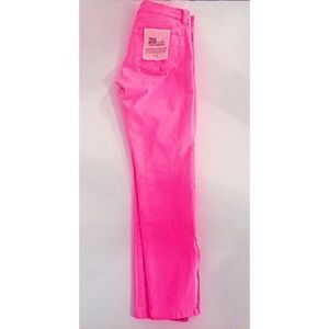 J. Crew Hot Pink Ankle Toothpick Skinny Jeans